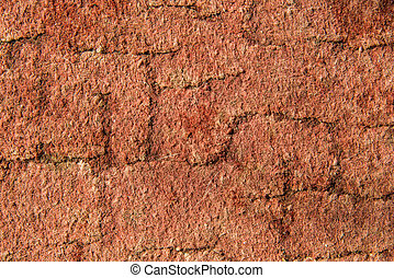 Texture of dry red clay