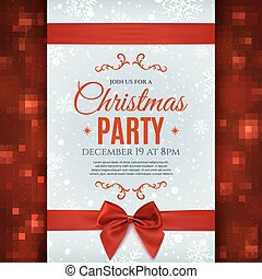 Christmas party poster template. - Christmas party poster...