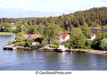 Landscape on Stockholm archipelago in Baltic sea