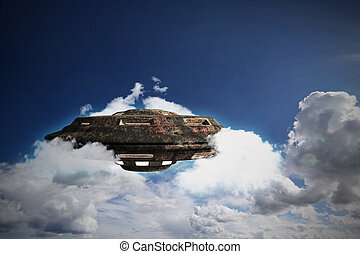 rusty flying object - unidentified rusty object flying in...
