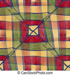 Seamless, amarela, verde, quadrado, Cubismo, abstratos,...