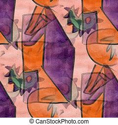 Cubismo, PORTA, espinhos, gráfico, quadro, seamless,...
