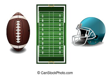 Textured Grass American Football Field - A vector grass...