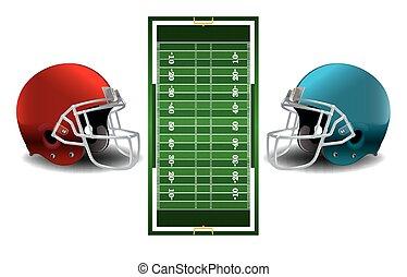 Textured Grass American Football Field - A vector grass...