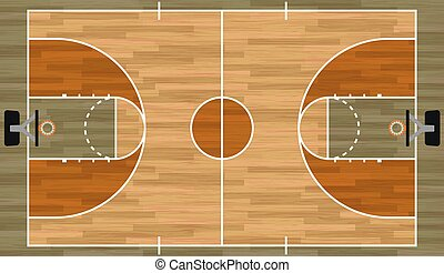 Realistic Basketball Court Illustration - A realistic...