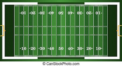 Textured Grass American Football Field - A grass textured...