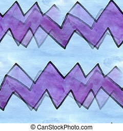 Seamless blue purple wave curves stripes cubism abstract...