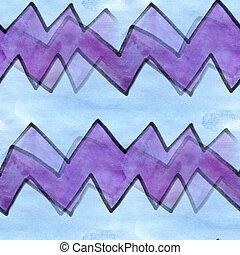 Seamless, azul, roxo, onda, curvas, listras, Cubismo,...