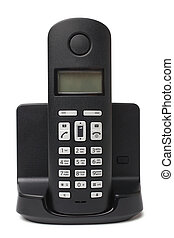 Cordless phone on white background