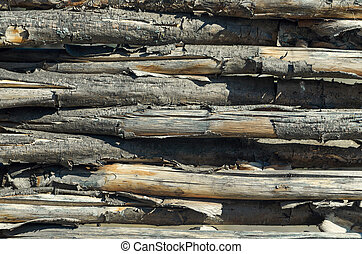 fasten fence from brushwood. Wood background - fasten fence...