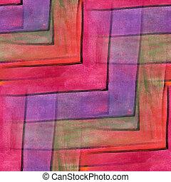 Seamless, vermelho, roxo, onda, curvas, listras, Cubismo,...