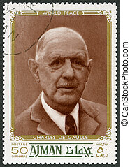 UAE - 1970: shows Charles de Gaulle 1890-1970, politician, -...