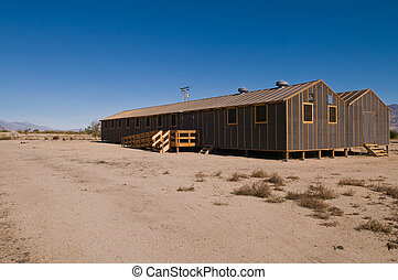 Barracks building at the former Manzanar internment camp