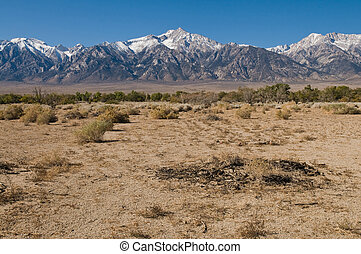 Sierra Nevadas - A view of the eastern Sierra Nevadas from...