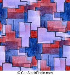 Seamless, negócio, azul, roxo, quadrado, Cubismo,...