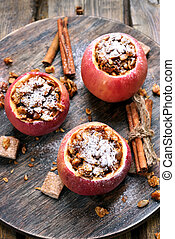 Delicious baked apples - Delicious baked red apples, top...