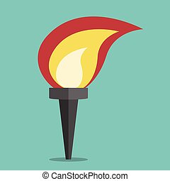 Torch with flame