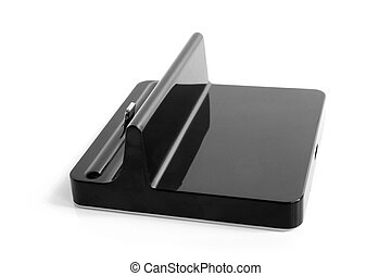 Docking Station - Sync and Charge Cradle on white background...