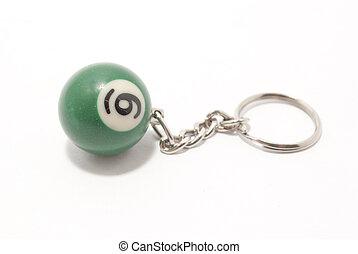 pool ball keyring