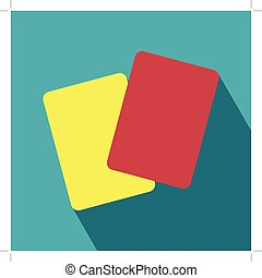 Red and Yellow Card Icon. Yellow card, Red card. Football...