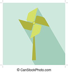 Wind Turbine Icon All in a single layer Vector illustration...