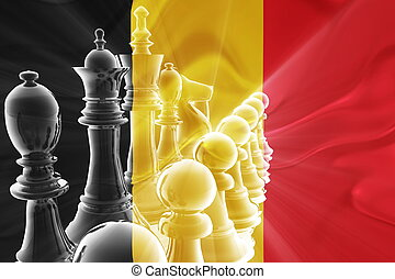 Belgium flag wavy business strategy - Flag of Belgium,...