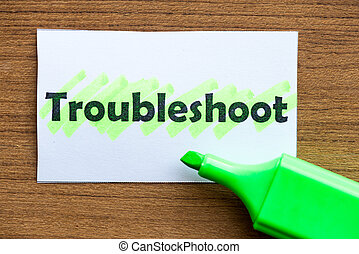 troubleshoot word highlighted on the white paper