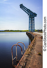 Titan crane Clydebank - Image of the Titan crane, from the...