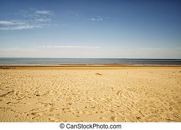 Cool lonely ambient sea in Jurmala, Latvia. - Cool lonely...