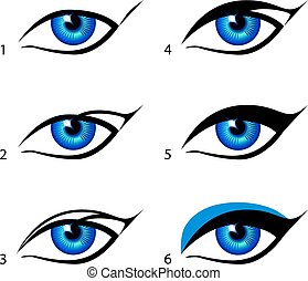 eyeliners set Winged eyeliner is a whole lot easier with...