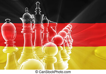 Flag of Germany wavy business strategy - Flag of Germany,...