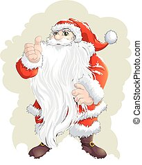 Santa Claus painted on a white background - Santa Claus...