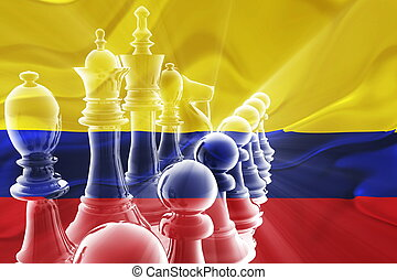 Flag of Colombia wavy business strategy - Flag of Colombia,...