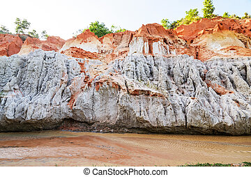 Fairy Stream (Suoi Tien), Red river between rocks and...