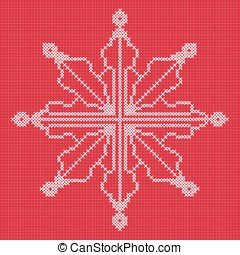 Cross stitch snowflake with grid