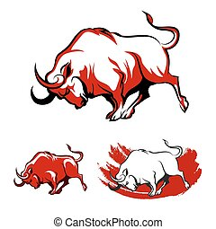 Fighting Bull Emblem Set - Fighting Bull Emblem set Running...
