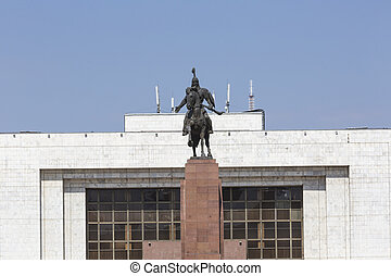 Monument Epic of Manas on Ala-Too Square Bishkek