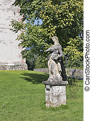 Baroque statue of Mary Magdalene in Bled, Slovenia - Baroque...