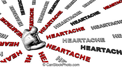 Heartache - Suffering From Heartache with a Victim Crying...
