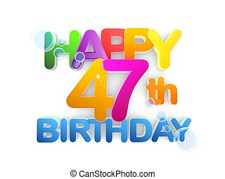 Happy 47th Title, Birthday light - Happy 47th Title in big...