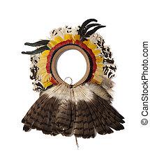 headdress indigenous on white background