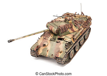 Panther tank of World War II period - German tank Panther of...
