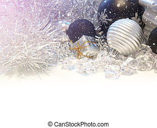 Christmas background with light leak - Christmas decorations...