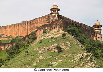 Amber fortress - amber fort, near Jaipur in Rajasthan, India