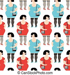 Prostitute seamless pattern. Prostitutes in background. Many Girl providing sexual services for money.