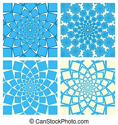 Geometric Background Set. Oriental Style. Vector.