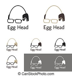 Egg Head Logo Template Set For A Doctor, Scientist, Lawyer,...