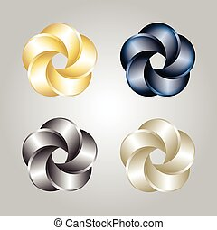 Logo Or Emblem Template. Abstract Swirl. Vector Icon