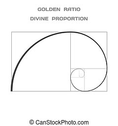 Golden Ratio Divine Proportion Ideal Section Vector