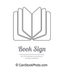 BookL - Book sign Book symbol Vector illustration